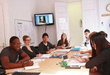 Durante el curso de francés
